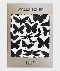 Ferm Living, muurstickers - butterflies black