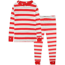 Afbeelding in Gallery-weergave laden, Hatley, pyjama - red & silver stripes / SALE