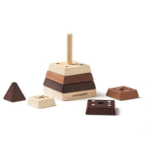 Kid's Concept, stapel piramide - natural woods