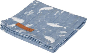 Little Dutch, swaddle - ocean blue