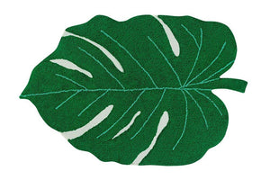 Lorena Canals, wasbaar tapijt - monstera leaf