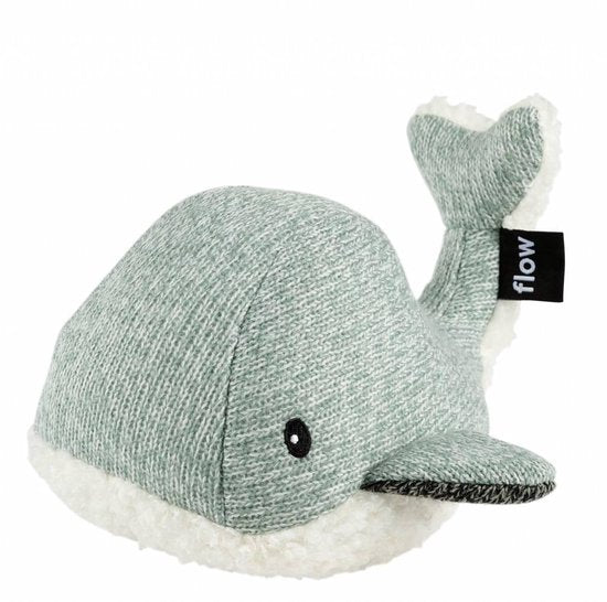 Flow, heartbeat knuffel - whale green