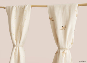 Nobodinoz, swaddle - haiku birds nude natural