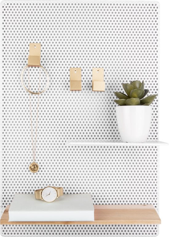 Memo board, Perky Mesh - iron white