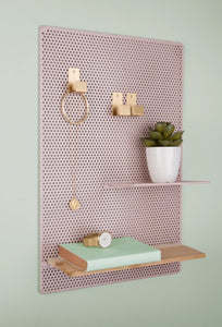 Memo board, Perky Mesh - iron light pink