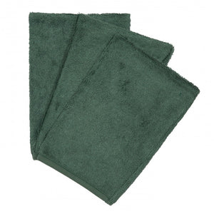 Timboo, set van 3 washandjes - aspen green