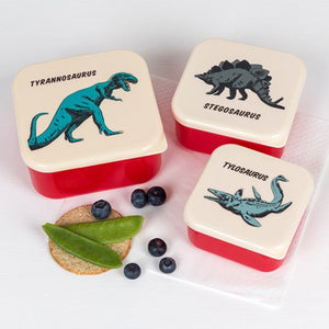Set van 3 snackdoosjes - dino world