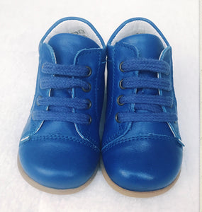 Stabifoot, lederen schoentjes First Steps - smile electric blue