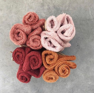 Timboo, set van 3 washandjes - misty rose