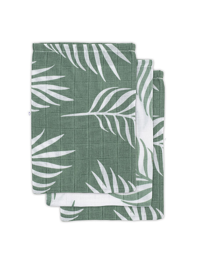 Tetra washandjes - leaves green