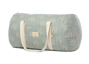 Nobodinoz, weekend bag NY - white gatsby antique green