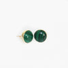 Green Banded Agate Earrings