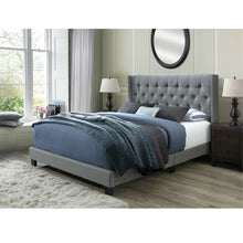Load image into Gallery viewer, Bardy Panel Bed Frame, Queen in Gray