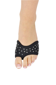 Danshuz Neoprene Half Sole Shoe Solid Colors with Rhinestones