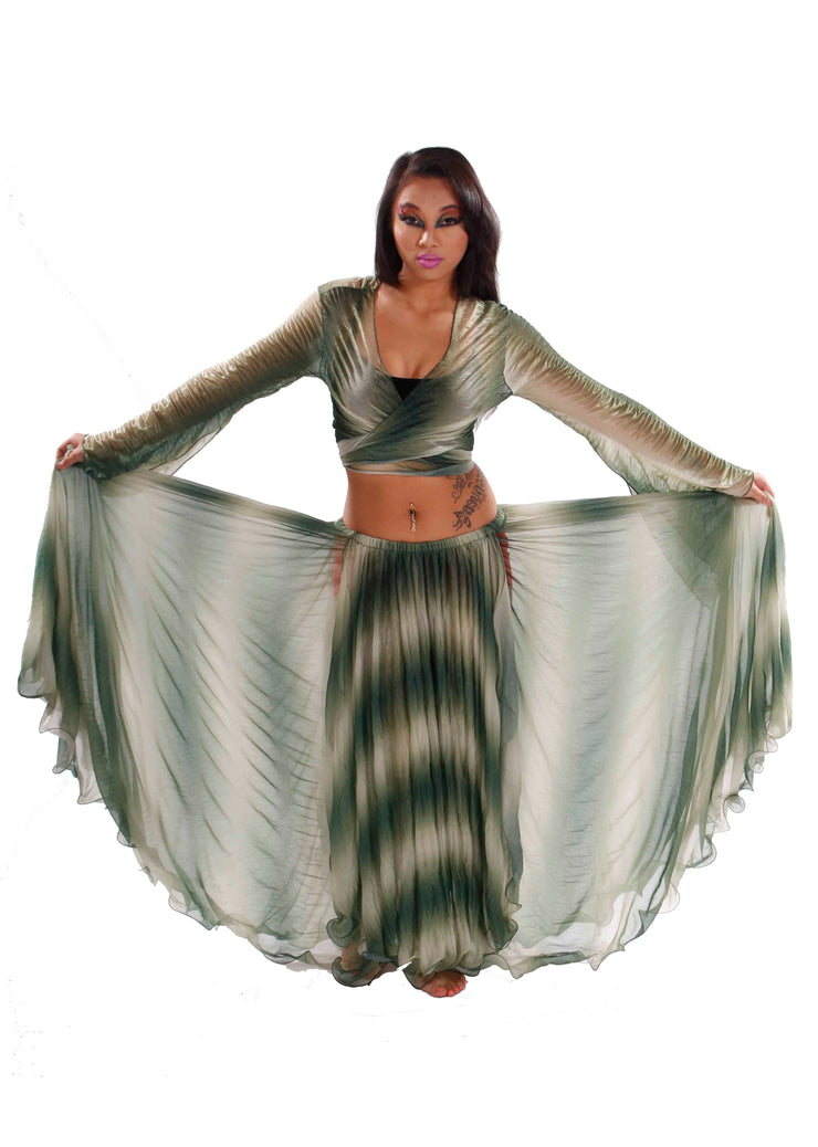 Belly Dance Sheer Tribal Skirt & Top Costume Set | SKYLIT NIGHT