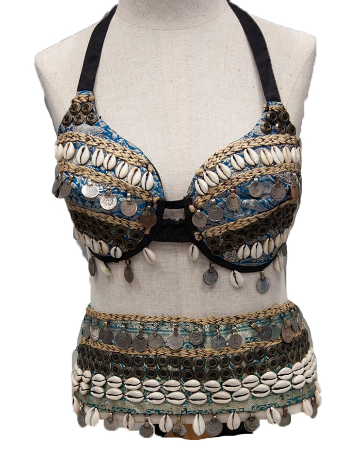 Belly Dance Tribal Bra & Wrap Belt Costume