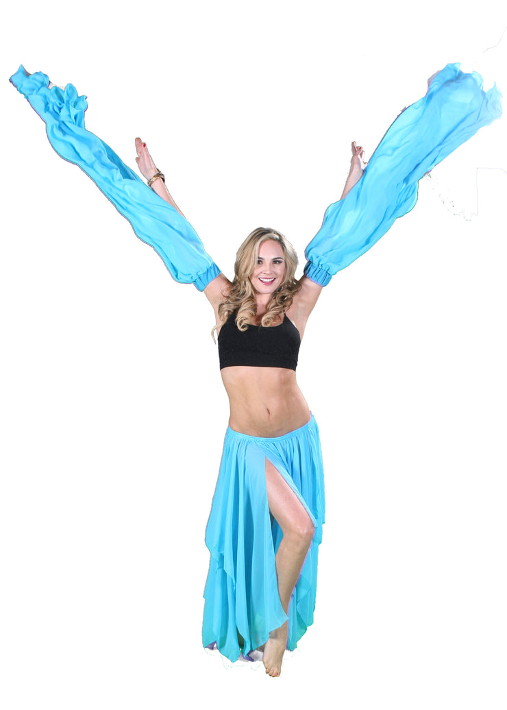 Belly Dance Chiffon Sleeves | Lunar Water Sleeves
