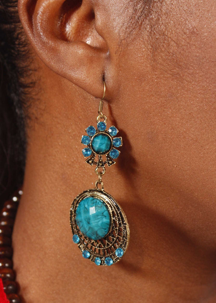 Belly Dance Duo Stone Earrings | LUNES SOLEIL