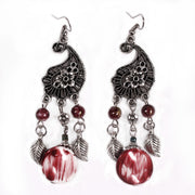 Belly Dance Color Stone & Leaf Earrings |  RAQS SONNER