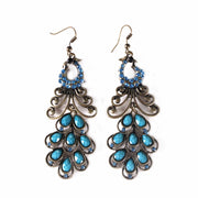 Belly Dance Long Colorful Stoned Earrings | PEACOCK'S PRIDE