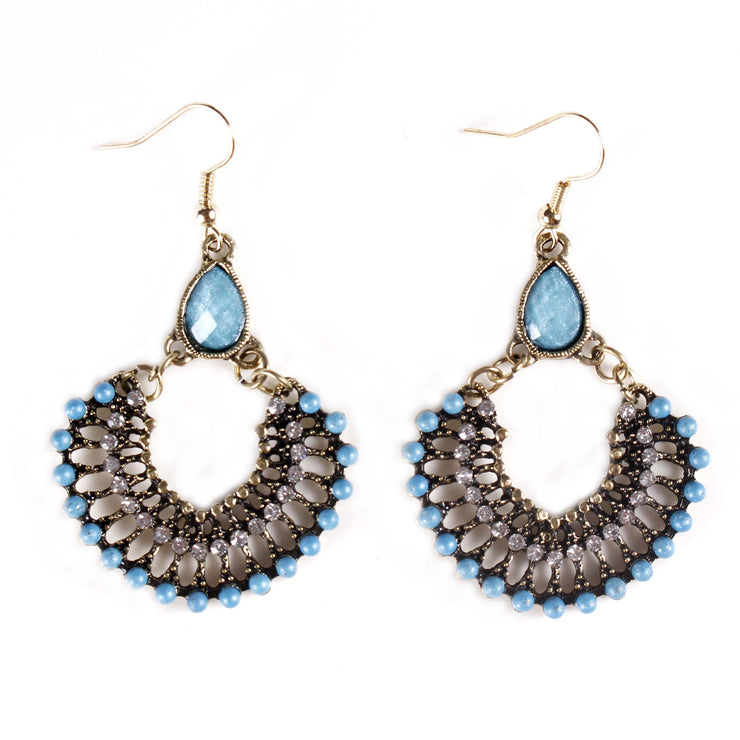 Belly Dance Half Circle Stoned Earrings |  LEAFLET