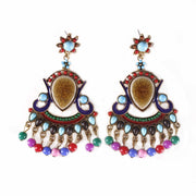 Belly Dance Beaded Earrings |  CROWNED DAME