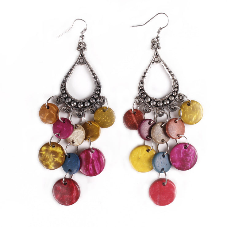 Belly Dance Tear Drop Colorful Stoned Earrings | RAQS CANDY II