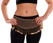 Belly Dance Belt Rayon With Beads And Coins|