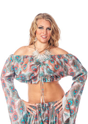 Belly Dance Tribal Design Top | FELA ROMANI II