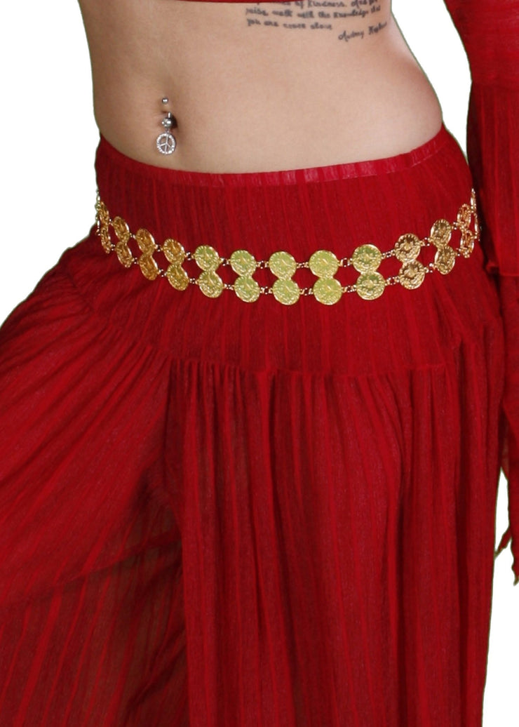 Belly Dance 2 Row Coin Belt | YA DOBLE
