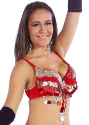 Belly Dance Adjustable Squins Bra | Canili Rimba