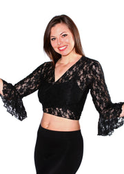 Belly Dance Bell Sleeve Lace Top | BELLENE