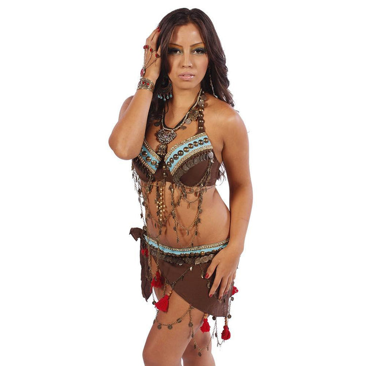 Belly Dance Bra & Belt Set | PERA TRIBES JEN