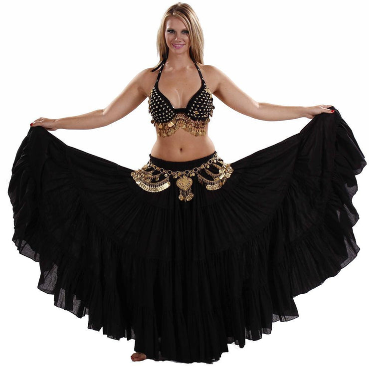 Belly Dance Bra, Coin Belt, & Skirt Costume Set | AMANA MAI