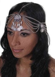 Belly Dance Chain Head Piece with Coins | REEMA