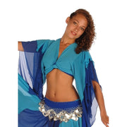 Belly Dance Chiffon 2-Color Choli Top | TOURNE AND SWIRL