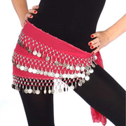 Belly Dance Chiffon 3 Straight Rows Hip Scarf | TURKISTANI