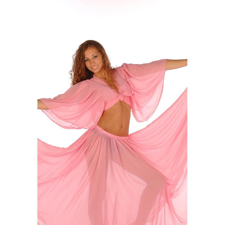 Belly Dance Chiffon Choli Top | PERA PASTEL