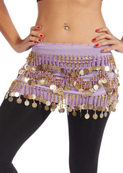 Belly Dance Chiffon Colorful Beaded Hip Scarf | DYNAMITE DUNES