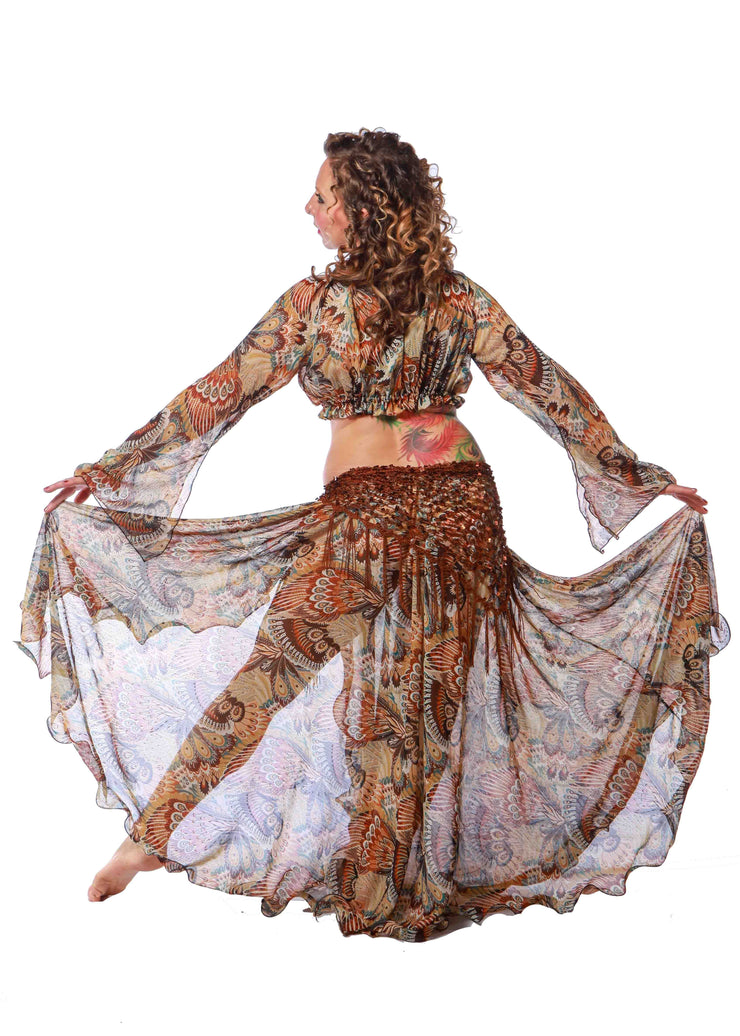 Belly Dance Chiffon Patterned Skirt | PERFECT PAISLEY
