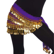Belly Dance Chiffon Rectangular 4 Straight Rows Teardrop Hip Scarf | BELADI