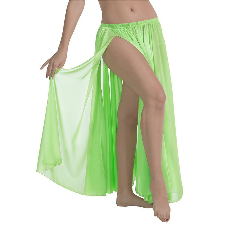 Belly Dance Chiffon Skirt With Side Slit | SIMPLY SHEER