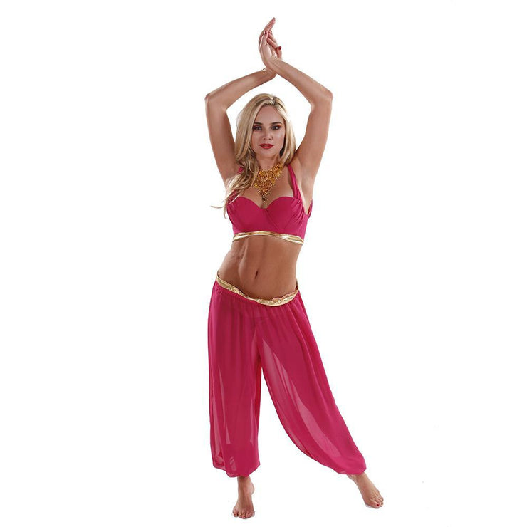 Belly Dance Chiffon Top & Harem Pants Costume Set | DREAM IT