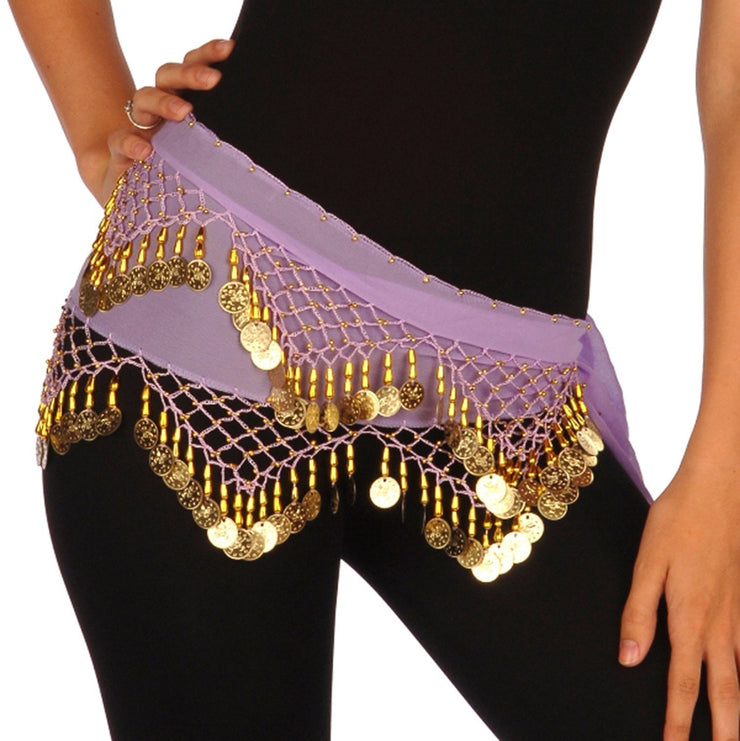 Belly Dance Chiffon Training Model Hip Scarf | SERENE SUNSET