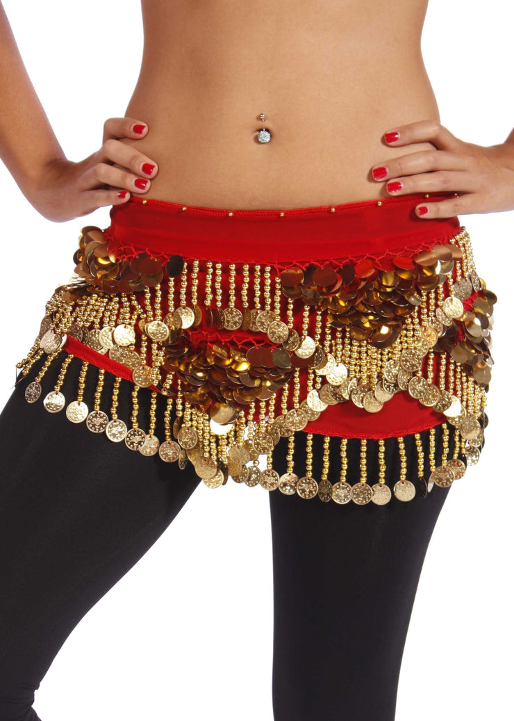 Belly Dance Chiffon Trianglar Paillette Hip Scarf | RAISSAT