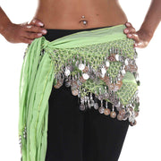 Belly Dance Chiffon Triangular Pattern Hip scarf | WINDING WINDS