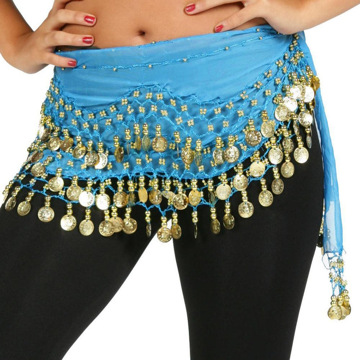 Belly Dance Chiffon Wavy Design Training Hip Scarf | RAVISING