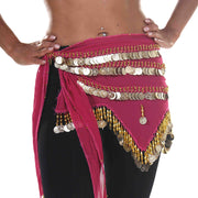 Belly Dance Chiffon Zig Zag Design Hip Scarf | STARLIT DREAM