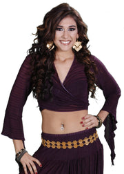 Belly Dance Choli Top | SHEER HAREM TOP