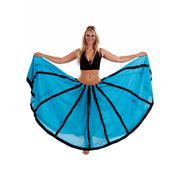 Belly Dance  Cotton Circular Skirt withTrim | TANOR SKIRT